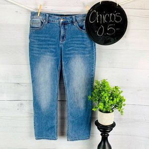 Chico's Cropped Jeans sz 0.5 | 6 | S